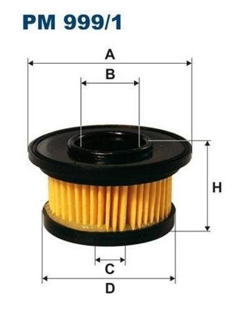 Filtr do instalacji gazowych  PM 999/1 - MARINI