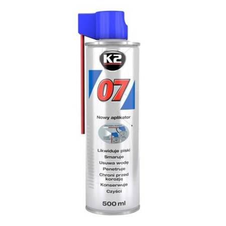 K2 07 smar odrdzewiacz w sprayu wielozadaniowy penetrant 500ml