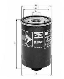 Knecht filtr oleju OC272 -  Fiat/Alfa Marea/Punto 1.8