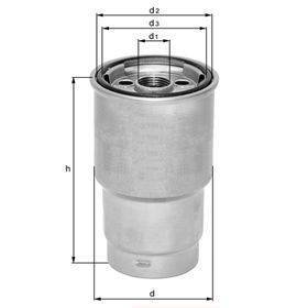 Knecht filtr paliwa KL418 - Citroen C3 1.4HDI/1.4, 50/66KW, 2/02-