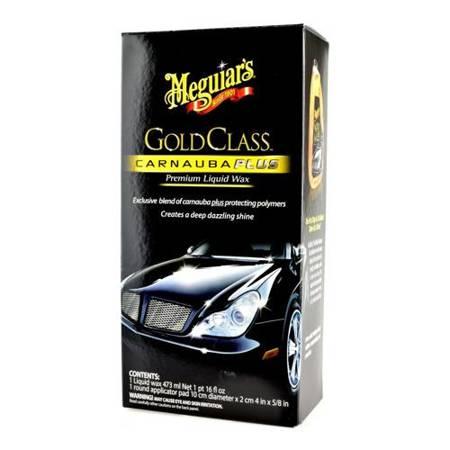 Meguiar's Gold Class Carnauba Plus Premium Liquid Wax - wosk z polimerami w mleczku 473ml