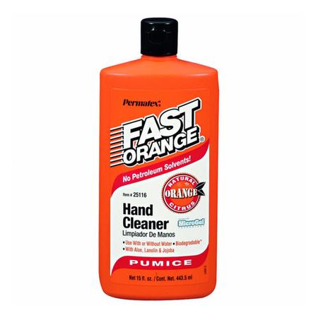 Permatex Fast Orange - emulsja do mycia zabrudzonych rąk z szczoteczką - 440ml