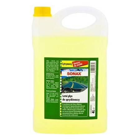 SONAX gotowy letni płyn do spryskiwaczy  - Cytrynowy 4L