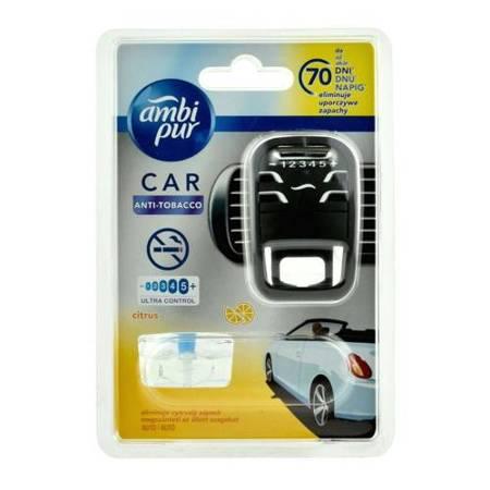 Zapach samochodowy Ambi Pur Car Antitabacco (CITRUS) - zestaw