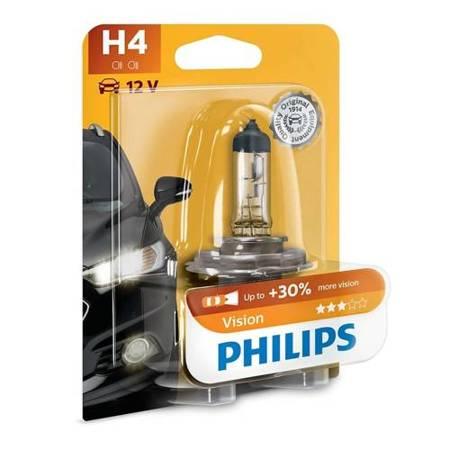 Żarówka samochodowa H4 Philips Vision +30% - 1szt